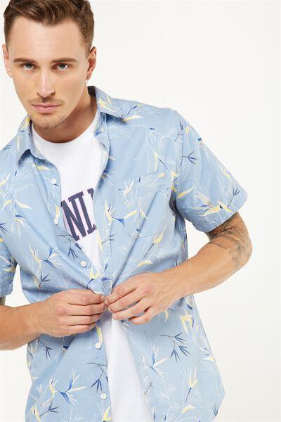 Vintage Prep Short Sleeve Shirt, BLUE PARADISE