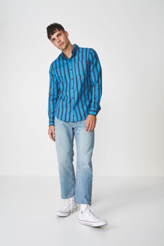 91 Shirt, TEAL NAVY STRIPE