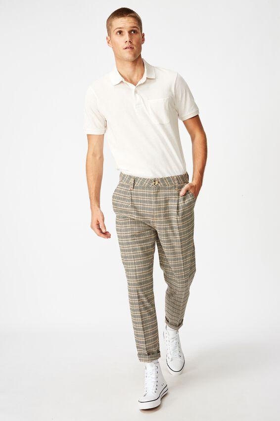 Oxford Trouser, BROWN MINI CHECK