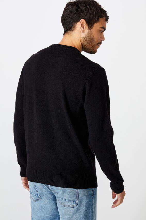 Premium Crew Knit, BLACK
