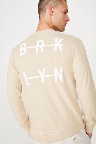 Curved Longline Fleece, PEARL/BRKLYN