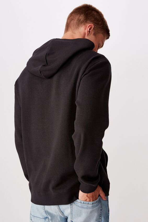 Fleece Pullover 2, WASHED BLACK/PERMANENT PARADISE