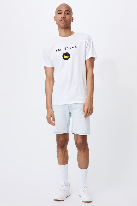 Tbar Collab Pop Culture T-Shirt, LCN IRV WHITE/IRVINS-SALTED EGG LOGO