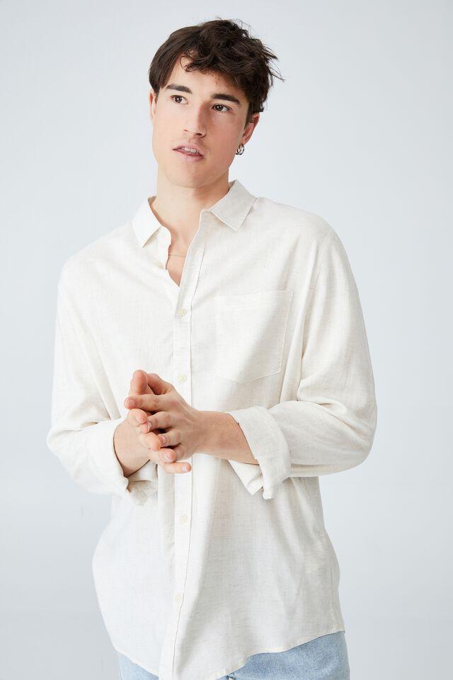 Ashby Long Sleeve Shirt, OATMEAL