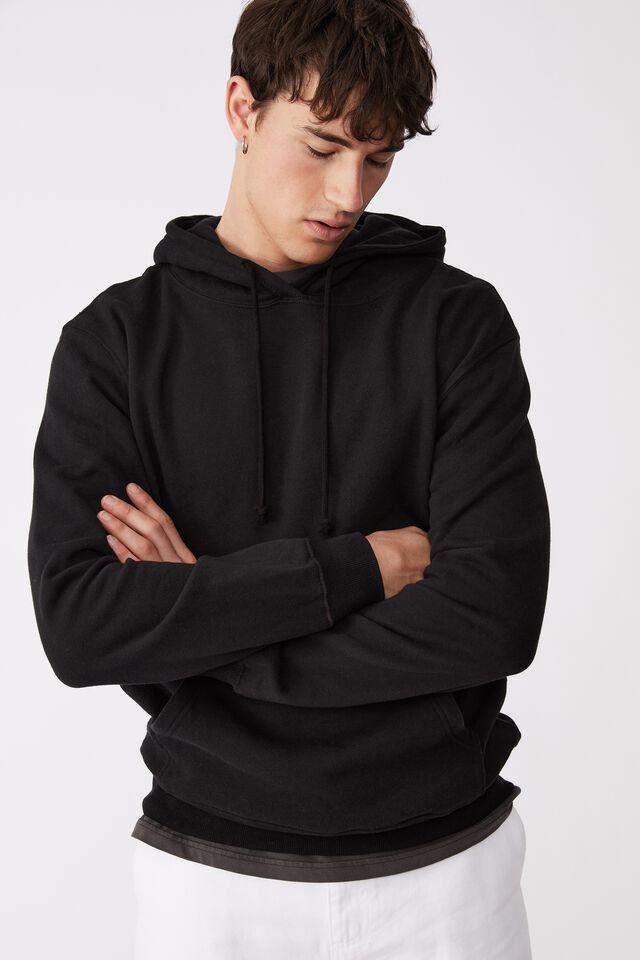 Essential Fleece Pullover, BLACK