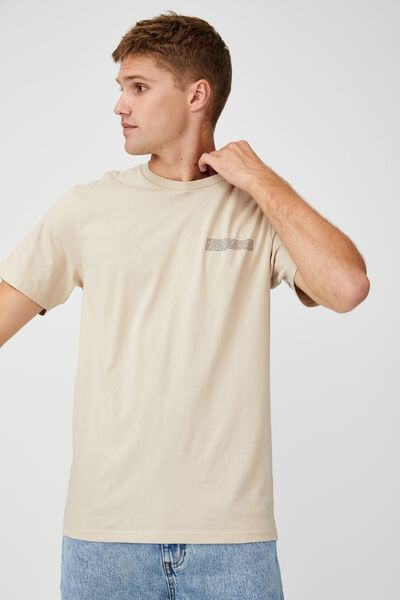 Tbar Text T-Shirt, WHITE/THE COSMOS