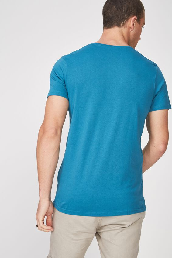 Essential Crew Tee, METHYL BLUE