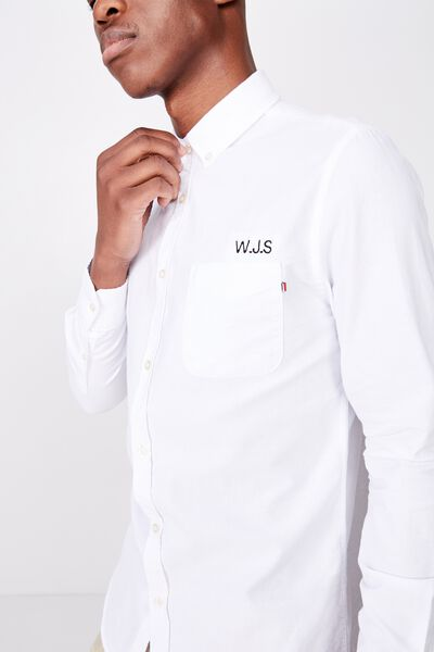 Personalised Brunswick Shirt 3, WHITE OXFORD