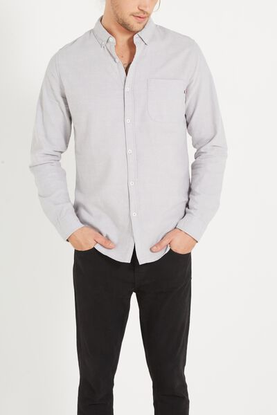 Brunswick Shirt 3, GREY OXFORD