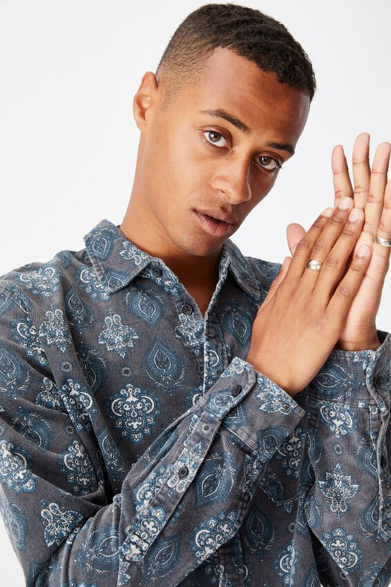 Festival Long Sleeve Shirt, BLUE PAISLY