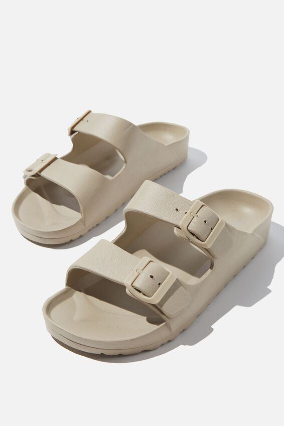 Eva Double Buckle Sandal, SAND