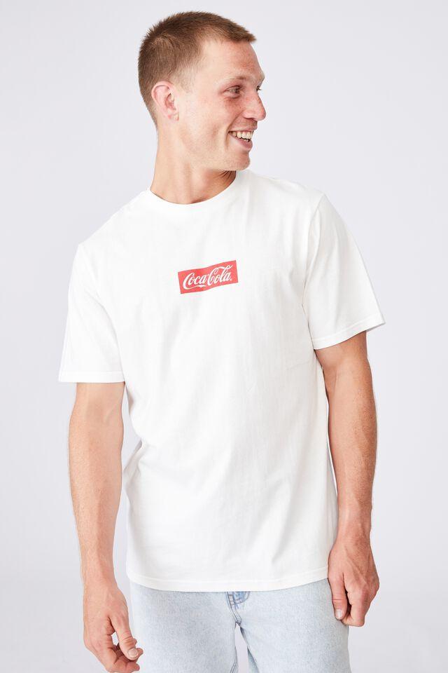 Tbar Collab Pop Culture T-Shirt, LCN CC VINTAGE WHITE/COCA COLA-BOTTLE CAP