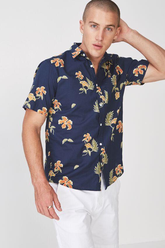 Short Sleeve Resort Shirt, SUB TROPICS