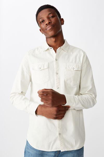 Fitzroy Denim Shirt, ECRU