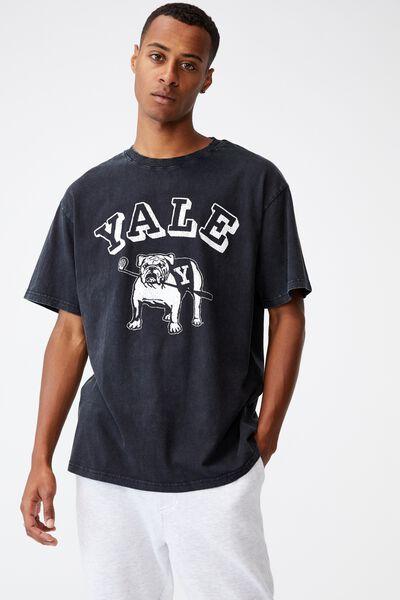 Special Edition T-Shirt, LCN YAL WASHED BLACK/YALE-VINTAGE BULLDOG