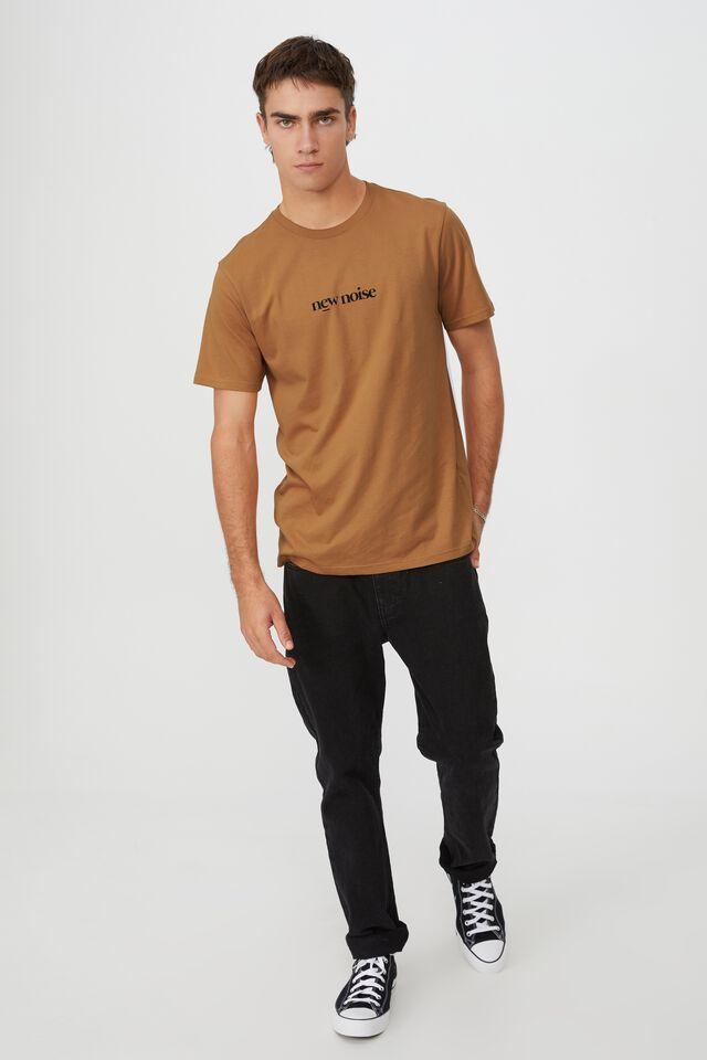 Tbar Text T-Shirt, BRONZE/NEW NOISE