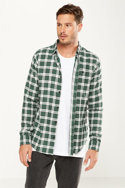 Rugged Light Shirt, GREEN SUMMER CHECK