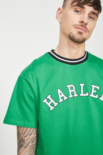 Downtown Loose Fit Tee, APPLE GREEN/HARLEM