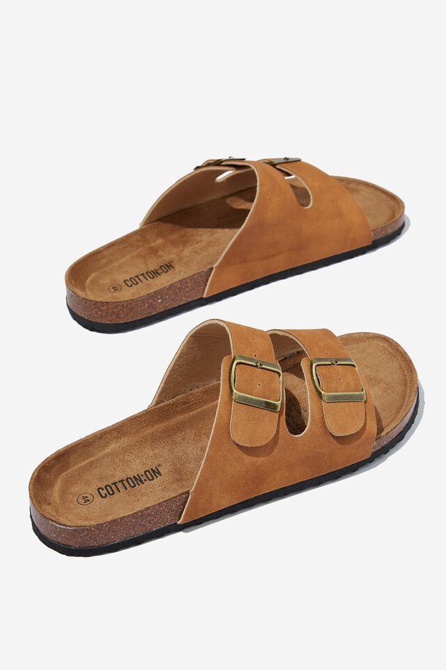 Double Buckle Sandal, DARK TOBACCO/TEXTURE