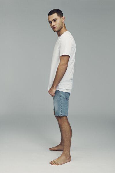 Skinny Straight Short, MID BLUE