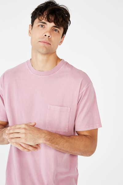 Washed Pocket Tee, WASHED PURP