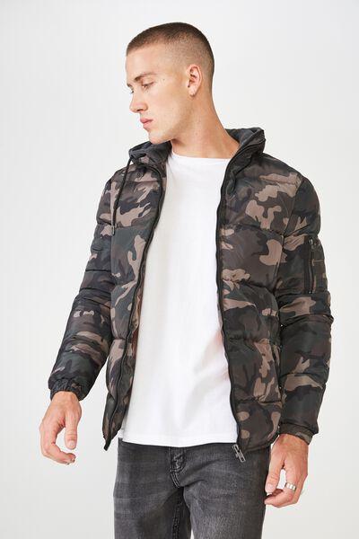 Nz Puffer Jacket, CAMO