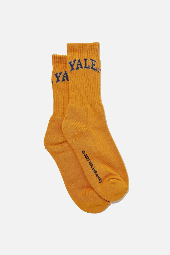 Special Edition Active Sock, LCN YALE/GOLD