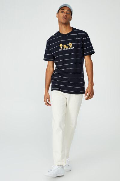 Kakao Friends T-Shirt, LCN KAK TRUE NAVY/VINTAGE WHITE STRIPE/KAKAO