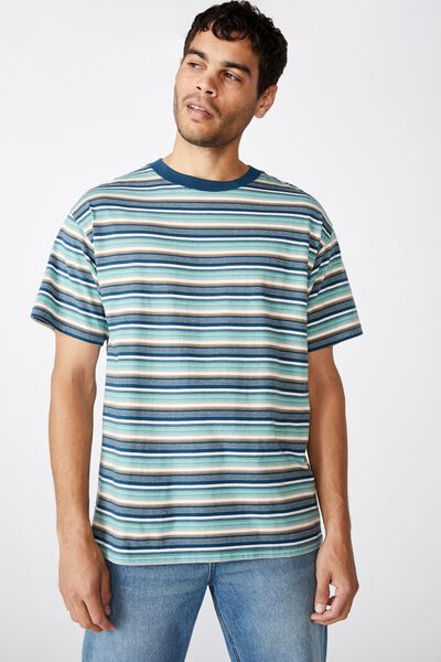 Dylan Tee, TEAL REPEAT STRIPE