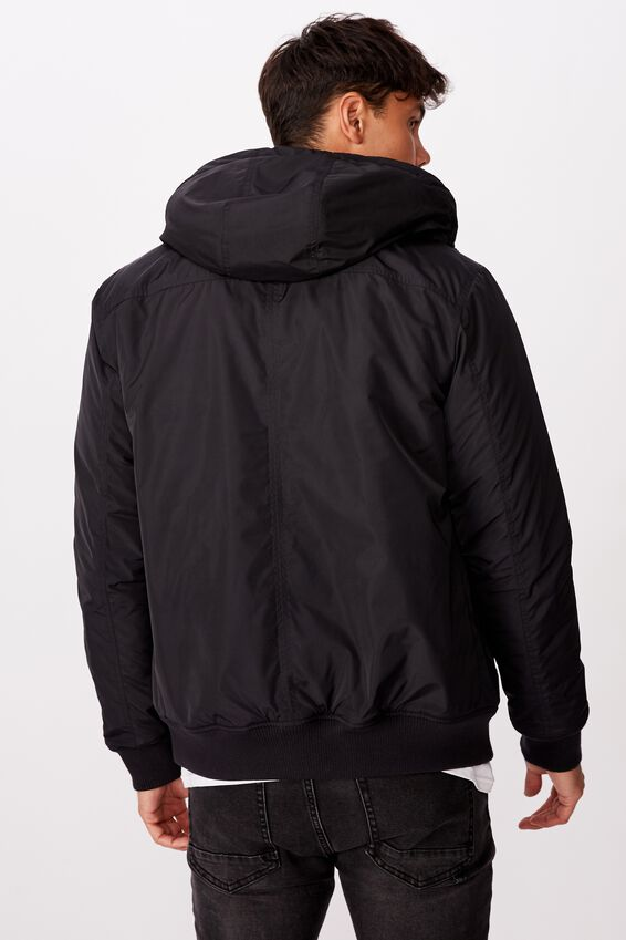 Ma1 Hooded Bomber Jacket, NEW BLACK