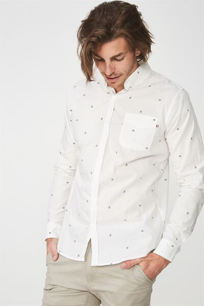Brunswick Shirt 3, WHITE WAVES