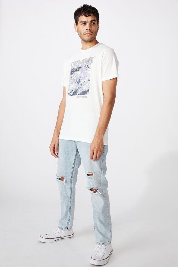 Tbar Art T-Shirt, VINTAGE WHITE/LUCID DREAMING