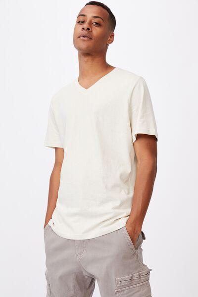 Essential Vee Neck T-Shirt, BONE