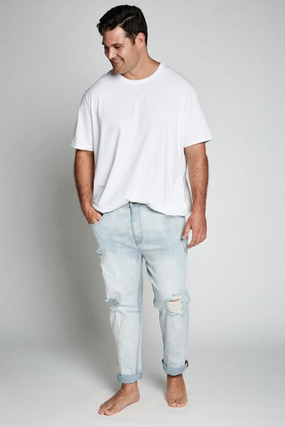 Bg Tapered Leg Jean, CLOUD BLUE + RIPS