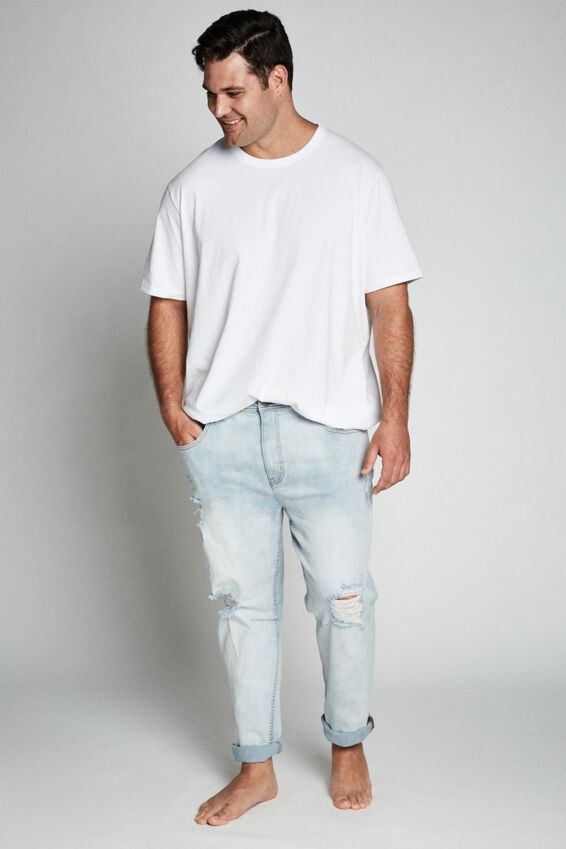 Bg Tapered Leg Jean, CLOUD BLUE + RIPS
