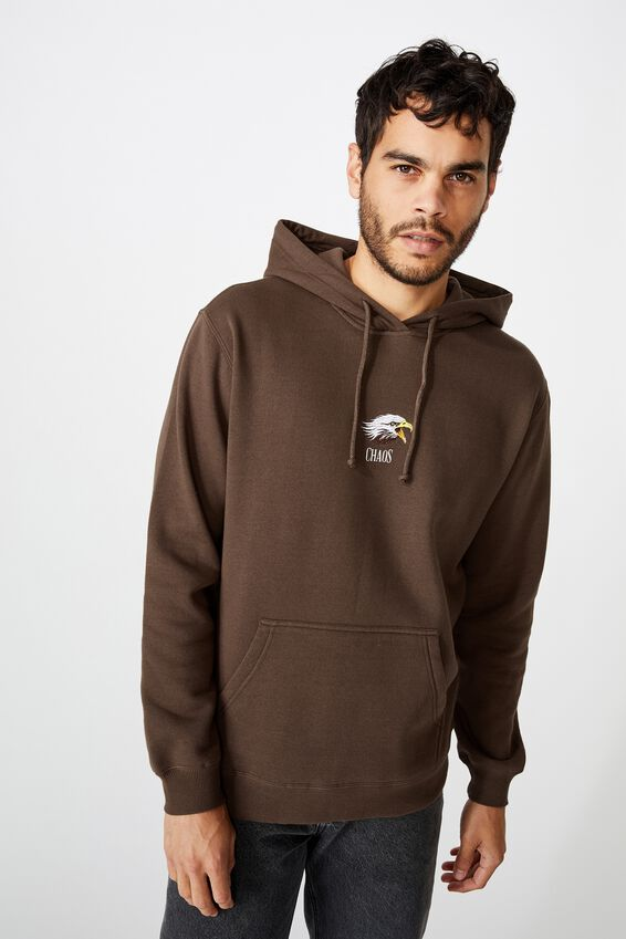 Fleece Pullover 2, CHOCOLATE BROWN/CHAOS