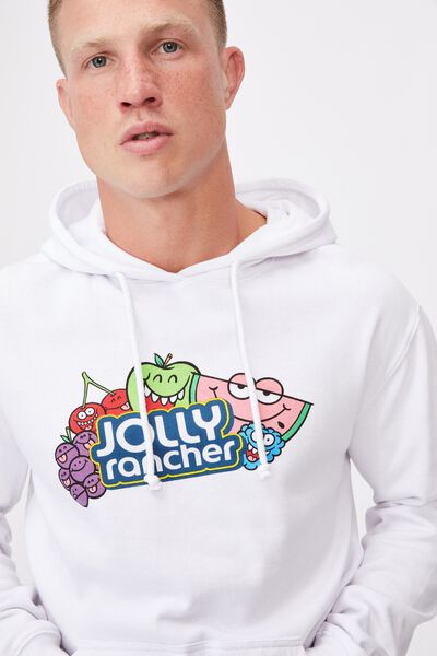 Collab Fleece Pullover, LCN HER WHITE/JOLLY RANCHER