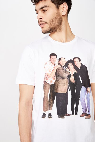Tbar Collab Movie And Tv T-Shirt, LCN WB WHITE/SEINFELD - STANDING