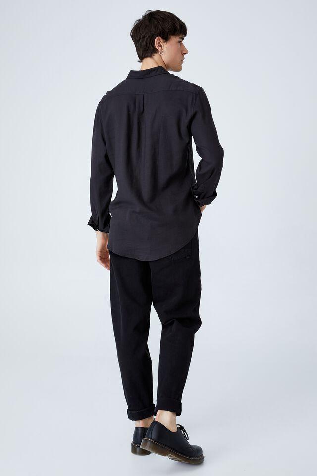 Ashby Long Sleeve Shirt, WASHED BLACK