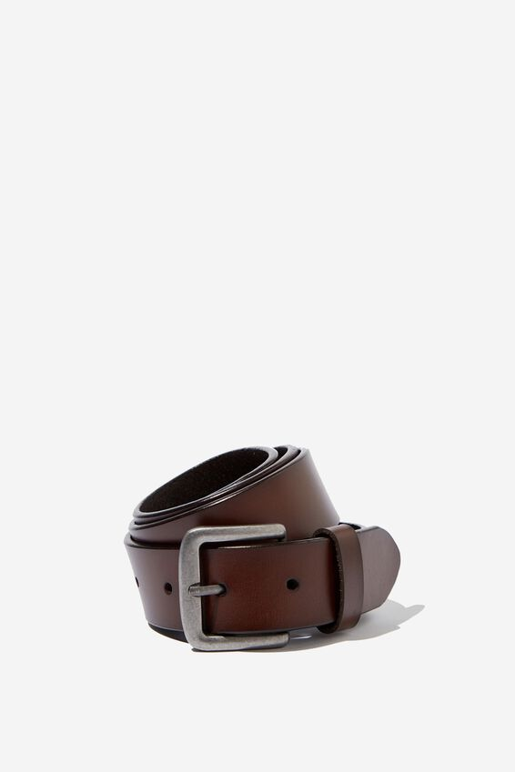 Leather Belt, BROWN