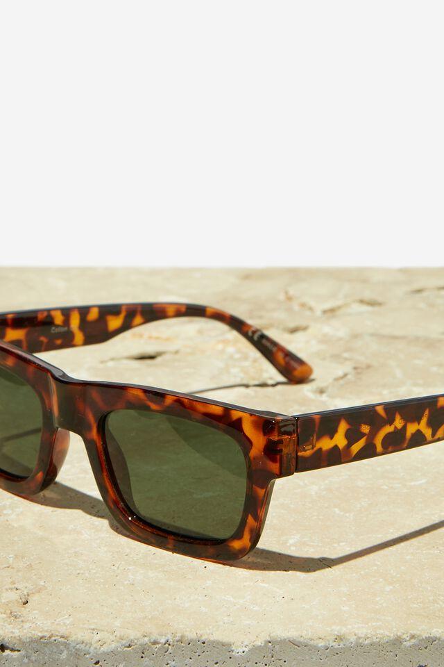 Division Polarized Sunglasses, TORT/GREEN