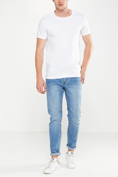 Tapered Leg Jean, EXPOSURE MID BLUE