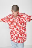 Collaboration Short Sleeve Shirt, RED COKE