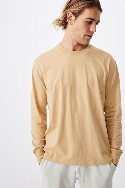 Tbar Long Sleeve T-Shirt, LIGHT CAMEL