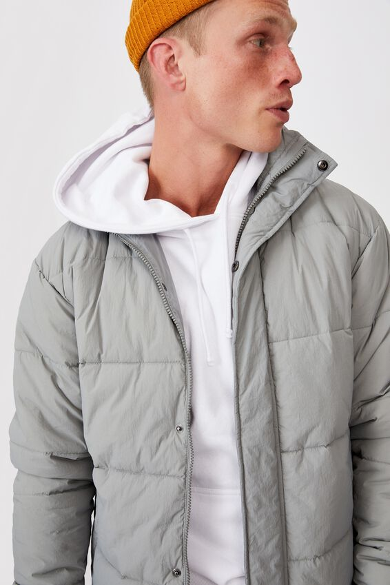 Essential Recycled Puffer, GREY