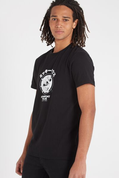 Tbar Collaboration Tee, LC BLACK/STEAMBOAT WILLIE