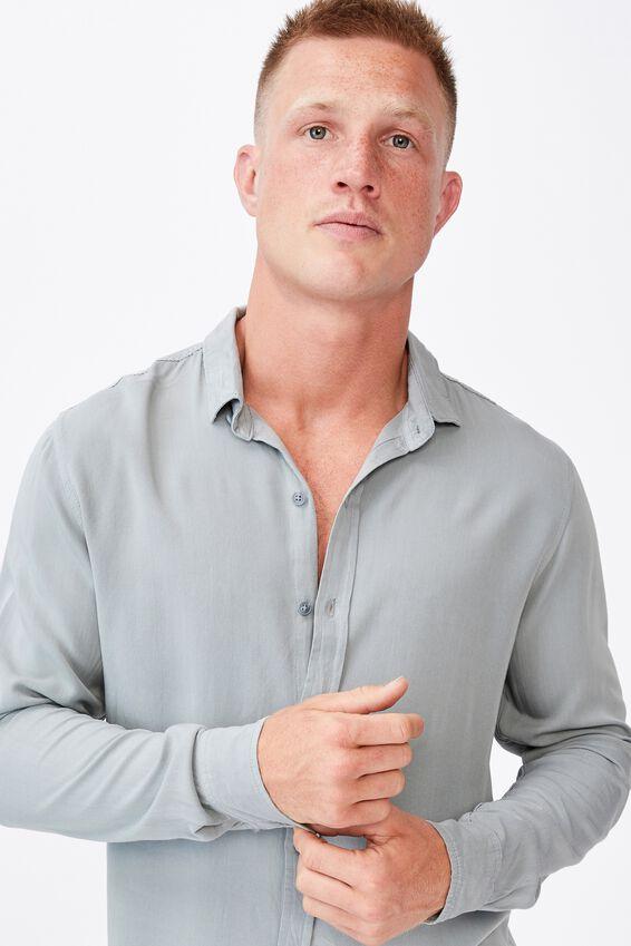 Cayman Long Sleeve Shirt, BLUE HAZE
