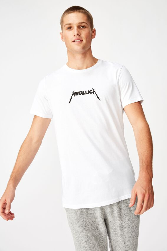 Scooped Lounge Tee, LCN PRO WHITE/METALLICA