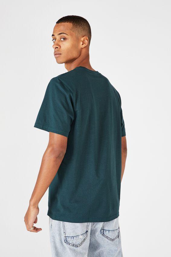 Tbar Text T-Shirt, DEEP SEA TEAL/NNNYYY