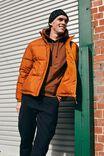 Recycled Puffer Jacket, BURNT ORANGE